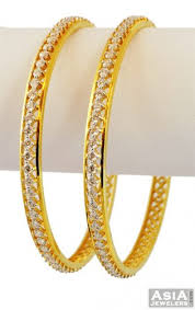 simple gold bracelet price images 22k designer cz bangles 2 pcs ajba56409 22k gold designer jpg
