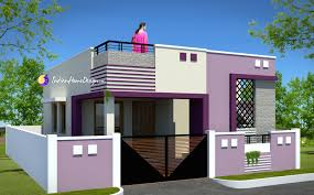 contemporary low cost 800 sqft 2 bhk tamil nadu small home design