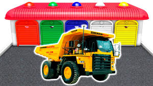 learn colors with big trucks u0026 cars heavy vehicles for kids