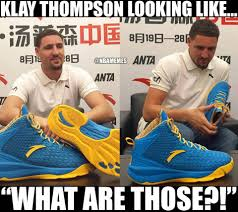 Sneakers Meme - nba memes klay thompson looks thrilled with his new shoe facebook