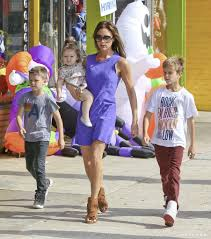 Family Of 5 Halloween Costumes The Beckham Family Shops For Halloween Costumes Popsugar Celebrity