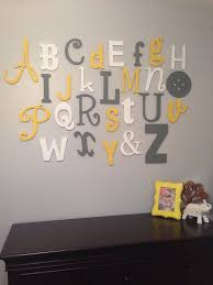 Nursery Wall Decor Letters S Nursery 2 Revealed Alphabet Wall Nursery And