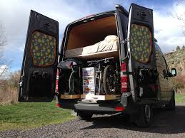 Van Living Ideas by The Adventure Mobile Our Diy Sprinter Camper Van Bicycle Hauler