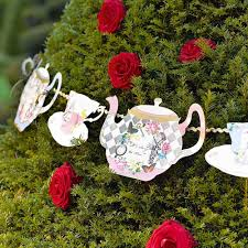 Mad Hatter Decorations Vintage Style Alice In Wonderland Teapot Bunting Mad Hatter Tea