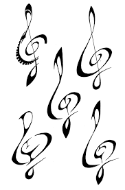 100 bass clef tattoo designs wonderful rose and treble clef