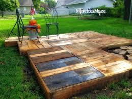 outdoor garden cheap reclaimed wood patio deck design featuring