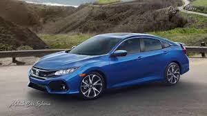 Honda Civic Si Two Door 2017 Honda Civic Si Sedan Model Exclusive Two Tone Finish Youtube