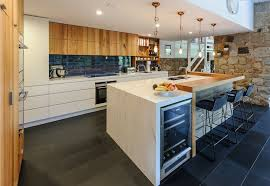 Corian Melbourne The Mix Of Warm Timber Wood And Corian Countertops Gives This