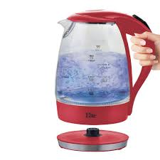 1 7 liter 7 cup cordless glass kettle red color ekt 300r the