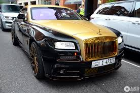 gold phantom car rolls royce mansory wraith 19 october 2016 autogespot