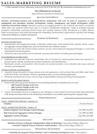 Sample Resume Objectives For Marketing Job by Resume Samples For Sales And Marketing Jobs