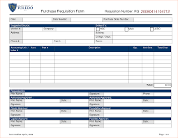 Purchase Request Form Template Excel 4 Purchase Requisition Template Procedure Template Sle