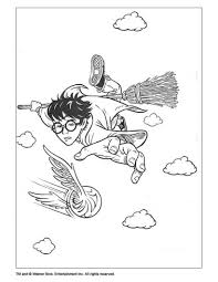flying harry potter coloring pages hellokids