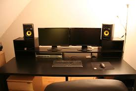 Diy Music Workstation Desk Music Producing Desk Ikea Hackers