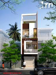 house 2 home design studio view 2 bản vẽ mẫu nhà phố 4 tầng 65m2 mái bằng hiện đại nhà phố