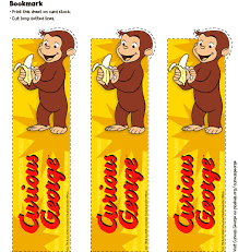 curious george party curious george party favors bookmark birthday party pbs