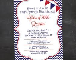 high school reunion invitations class reunion invite etsy