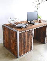 industrial modern 3 drawer desk the awesomer