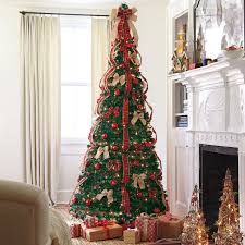 pre decorated pull up tree lights decoration