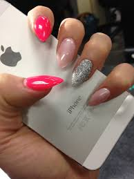 different color nail design pink glitter nail ideas pinterest