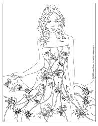 coloring pages designs dresses fashion design coloring pages