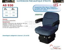 siege pneumatique basse frequence sears as930 suspension pneumatique 12v étroite et assise standard tissu