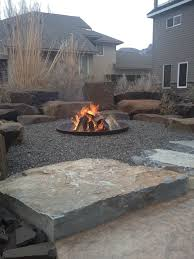 Firepit Rocks Pits Rock Placing Company