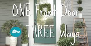 front door ideas u0026 pictures hgtv hgtv front door of the month