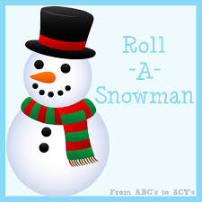 tot printable roll snowman abcs acts