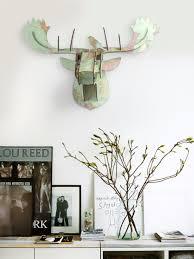 minimalist abstract creative wooden moose head wall hangings