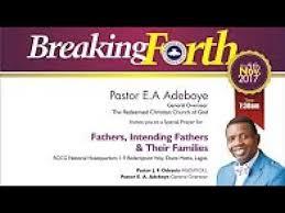 pastor e a adeboye sermon november 2017 special thanksgiving