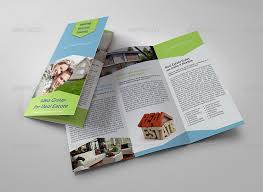 real estate tri fold brochure template by owpictures graphicriver