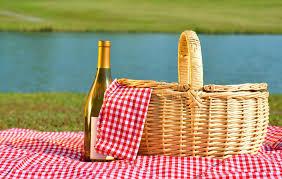 Wine Picnic Baskets Picnic Basket And Wine Royalty Free Stock Photo Image 19625505