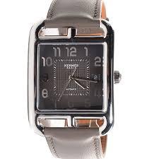 hermes swift cape cod 36mm tgm automatic watch etain 96308
