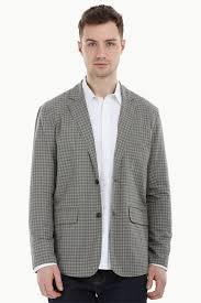 casual blazer buy grey gingham check casual blazer for at zobello