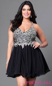 racerback plus size party dress with beads promgirl