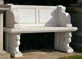 personalised hadrian seat cast garden ornaments