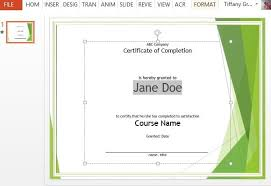 course completion certificate template for powerpointpowerpoint