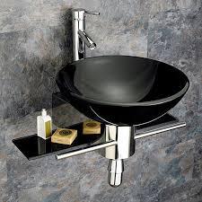 shop kokols usa black single vessel sink bathroom vanity with