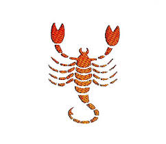 scorpio zodiac sign embroidery design instant pattern in
