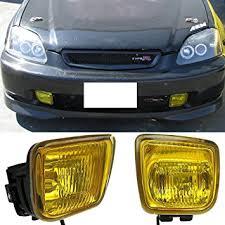 97 honda civic amazon com 96 97 98 honda civic ek jdm yellow fog lights lamps