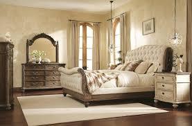 bedroom furniture romantic oak wood metal upholstered wall mounted