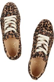 christian louboutin gondoliere leopard print calf hair sneakers lyst