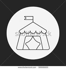 circus tent vector sketch icon isolated stock vector 584881696