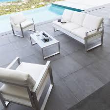canape jardin aluminium salon de jardin blanc salon jardin acier inds