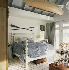good looking over bed decor with vintage sloped ceiling
