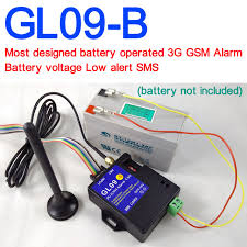 battery operated gl09 b 3g gsm alarm system sms alert wireless