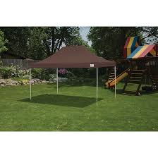 pop up canopy hd straight leg 10 x 15 ft chocolate brown