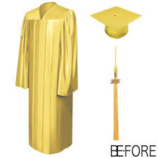 graduation gowns shiny gold bachelor gowns cap tassel graduation gown cap and tassel
