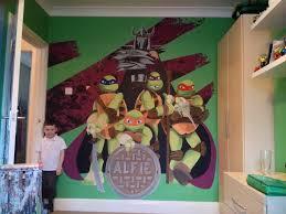 kids custom artwerk tmnt ninja turtle mural